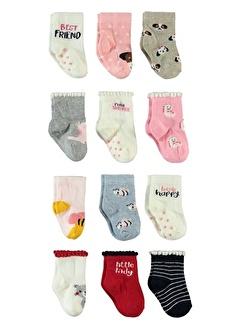 STEP Step Kız Bebek 12'li Çorap Set 0-24 Ay Ekru Step Kız Bebek 12'li Çorap Set 0-24 Ay Ekru